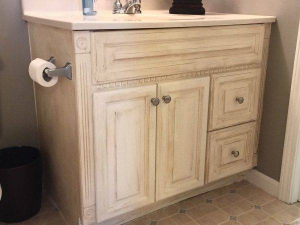 Painting Oak Bathroom Vanity Annie Sloan Chalk Paint