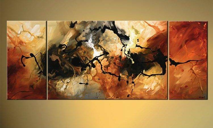 Painting Sale Rusty Abstract Triptych