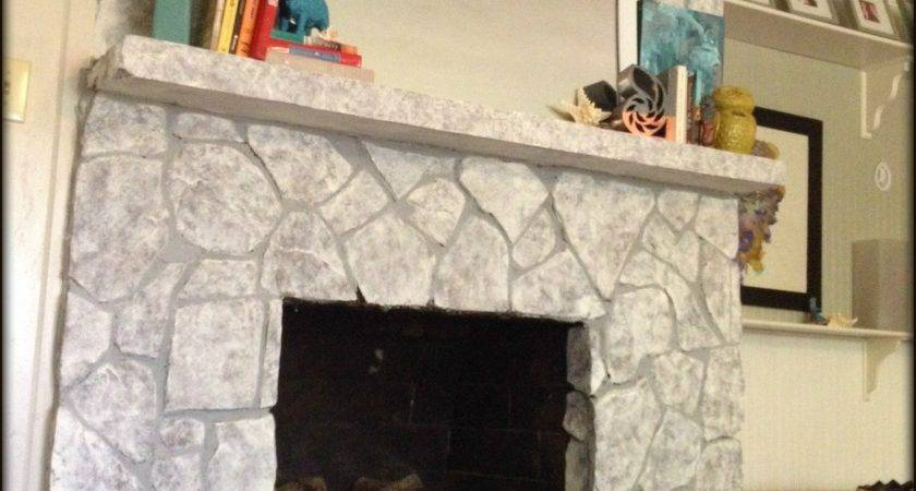 Painting Stone Fireplace Finally Did
