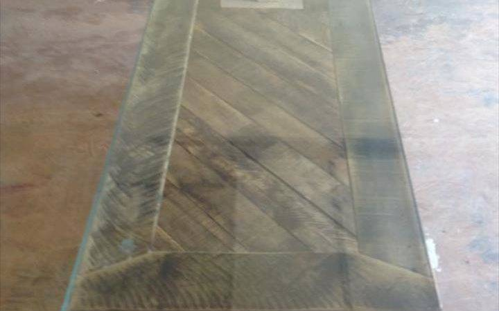 Pallet Coffee Table Glass Top Furniture