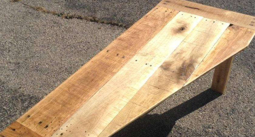 Pallet Coffee Table Tapered Top Furniture
