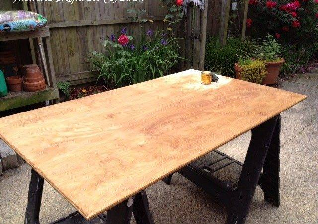 Pallet Plywood Workspace Table Joanne Inspired