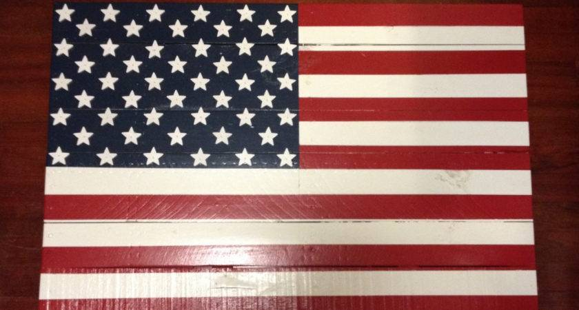 Pallet Wood American Flag Rustic Man Cave Wooden Usa