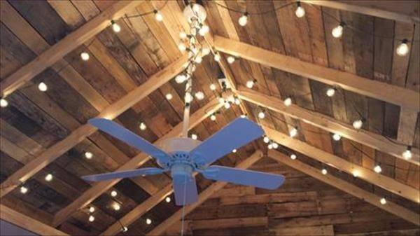 Pallet Wood Ceiling Ideas Pallets Designs