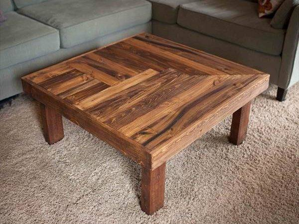 Pallet Wooden Coffee Table Design Furniture Plans