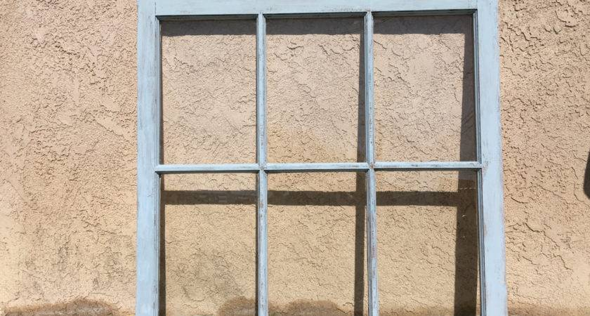 Pane Distressed Glass Window Frame Hand Painted Annie