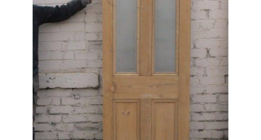 Panel Etched Glass Door Clear Border Round