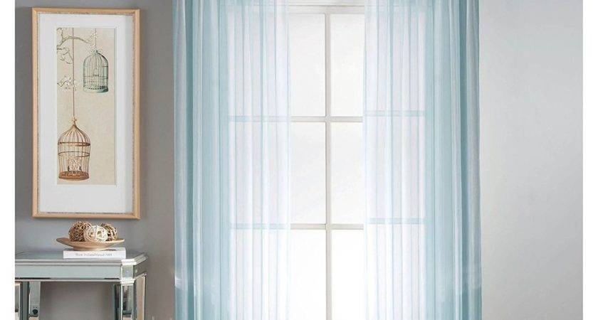 Panel Sheer Window Curtain Drape Rod Pocket