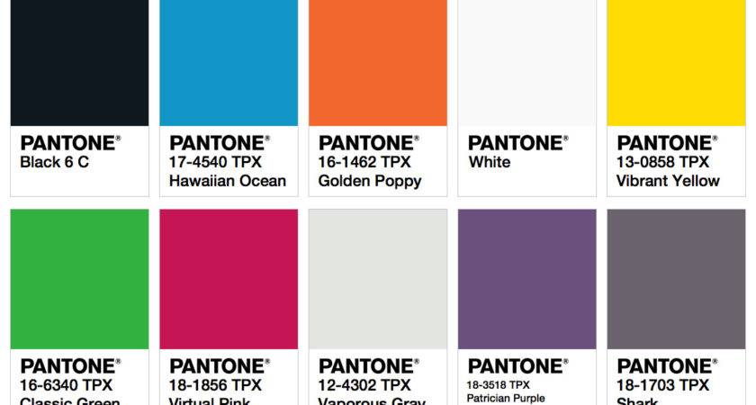 Pantone Colors Fashion Trendsetter