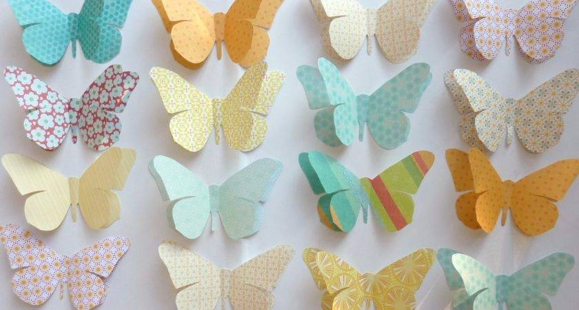 Paper Butterflies Decorations Funny Animal