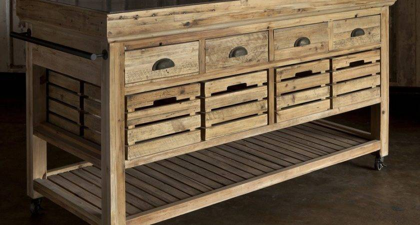 Park Hill Collection Rolling Kitchen Island
