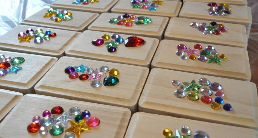 Party Favor Diy Gem Covered Pin Jewelry Box Sue Home