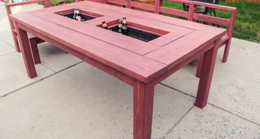 Patio Table Built Ice Boxes Build Youtube