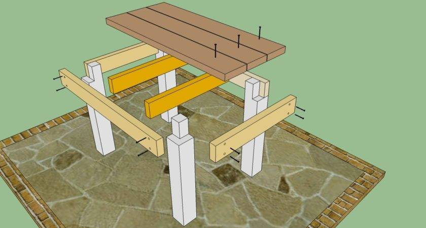 Patio Table Plans Howtospecialist Build Step