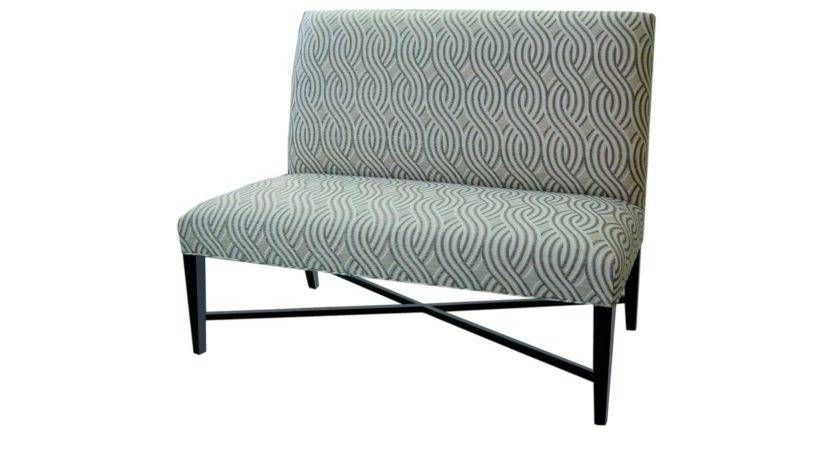 Patterned Upholstered Fabric Dining Bench Back