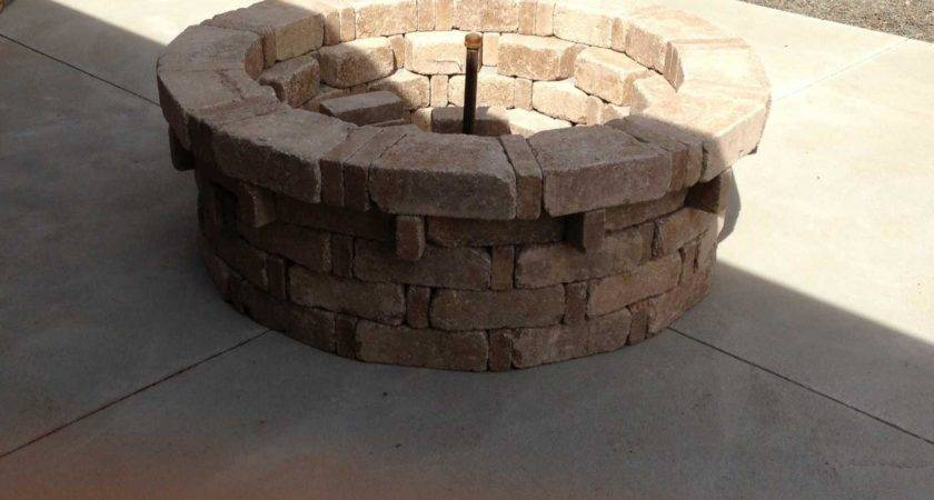 Pavestone Rumbletone Fire Pit Alterations Home