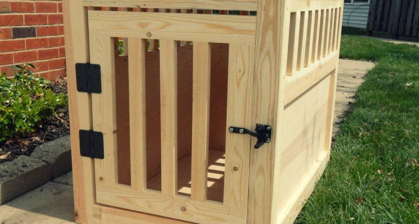 Paw Prints Paintbrushes Diy Wooden Dog Crate