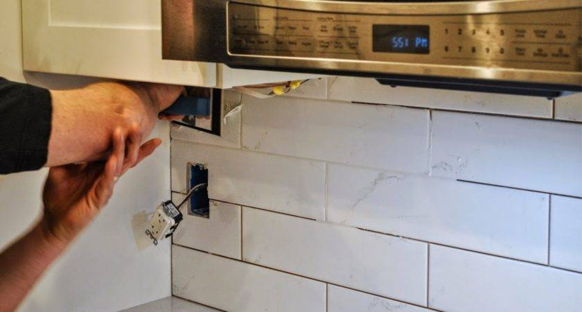 Pbjstories Installing Subway Tile Kitchen Backsplash
