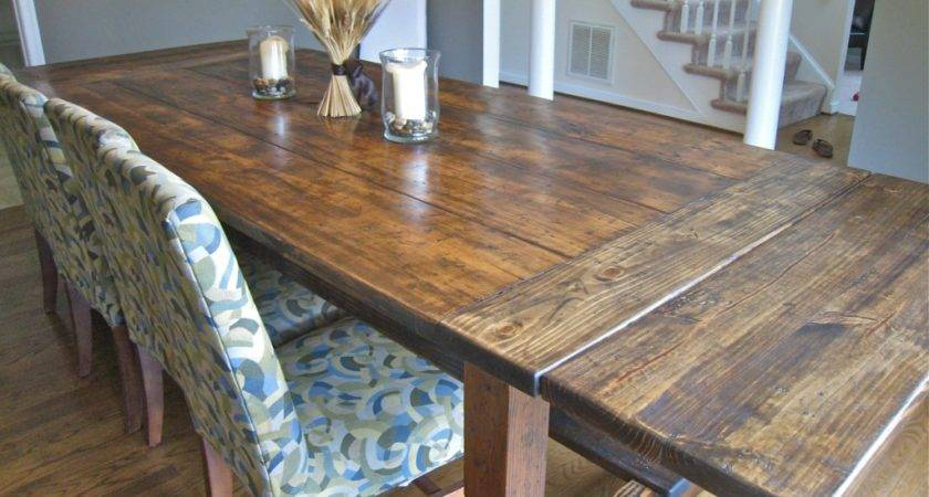 Pdf Plans Rustic Dining Table Pull Out