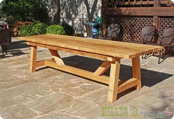 Pdf Woodwork Outdoor Wood Table Plans Diy