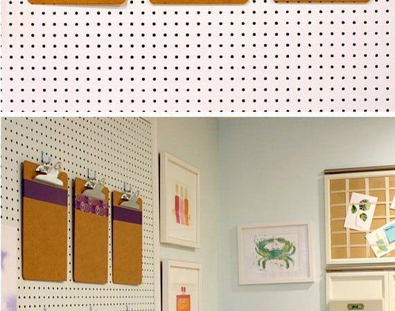 Pegboard Ideas Get Organized Bright Bold Beautiful