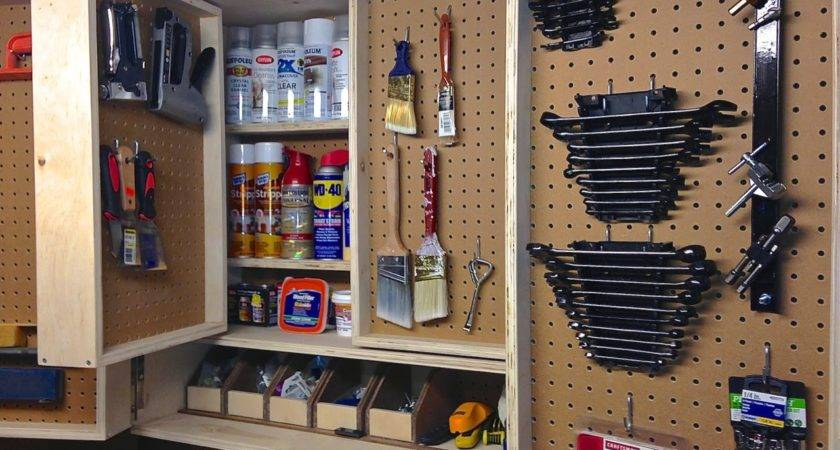 Pegboard Tool Storage Cabinet Project Lady