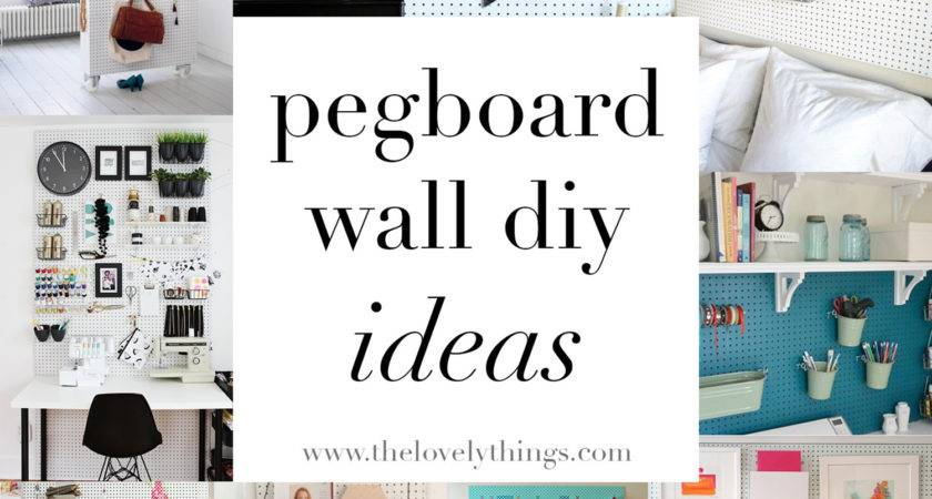 Pegboard Wall Ideas