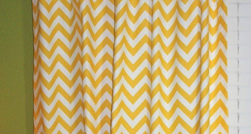 Penny Pinching Design Turquoise Chevron Curtains
