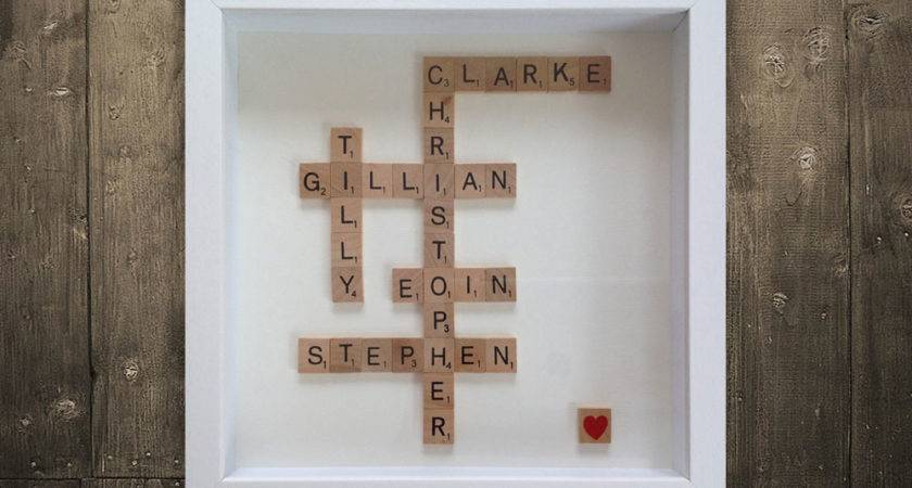 Personalised Scrabble Art Irish Homebird