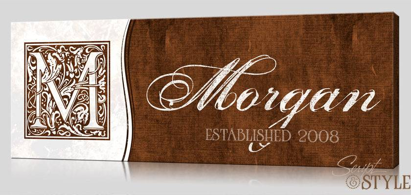 Personalized Established Sign Canvas