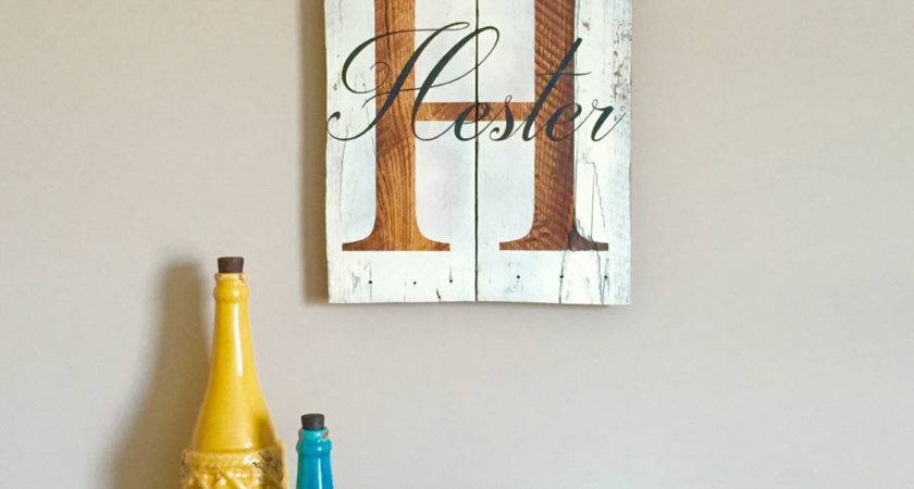 Personalized Last Name Sign Reclaimed Wood Wall Art