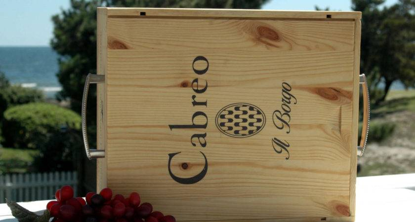 Personalized Wooden Wine Crate Wedding Card Box Storage