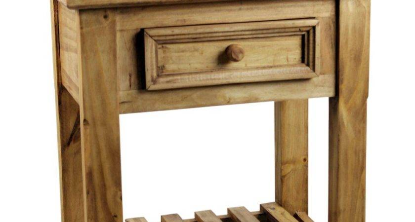 Pine Rustic End Table Tres Amigos World Imports