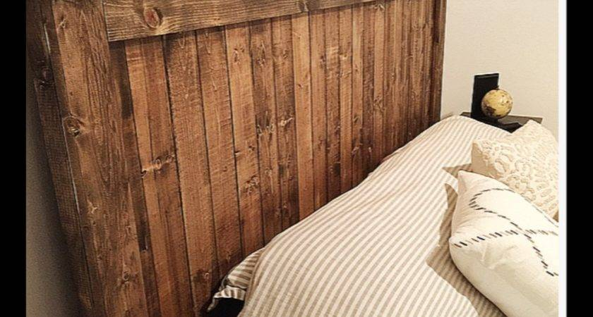 Plank Wood Headboard Barnwood Bedroom Furniture Rustic Home