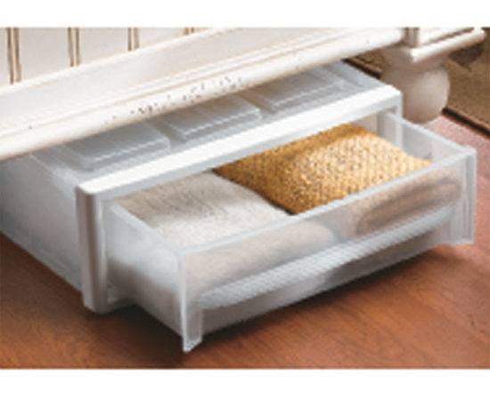 Plastic Under Bed Storage Drawer Clear Drawers