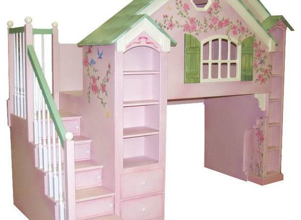 Playhouse Loft Beds Traditional Kids Houston