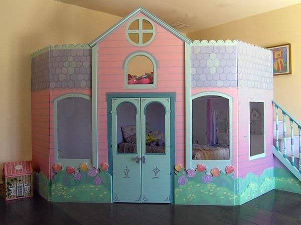Playhouse Plans Indoor Wooden Pdf Bunk Bed Over