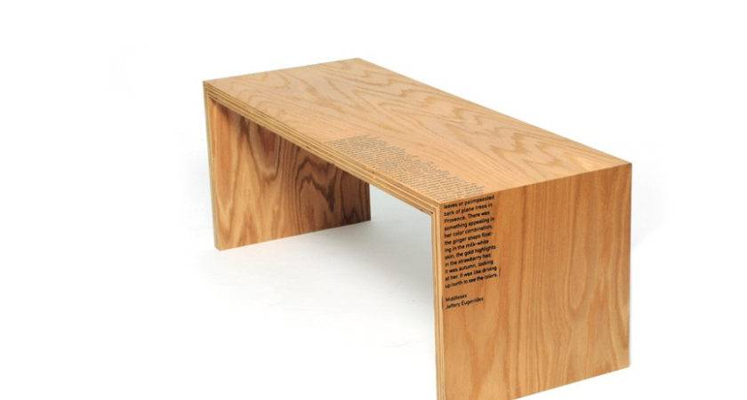 Plywood Bench Concept Printing Nancy Froehlich