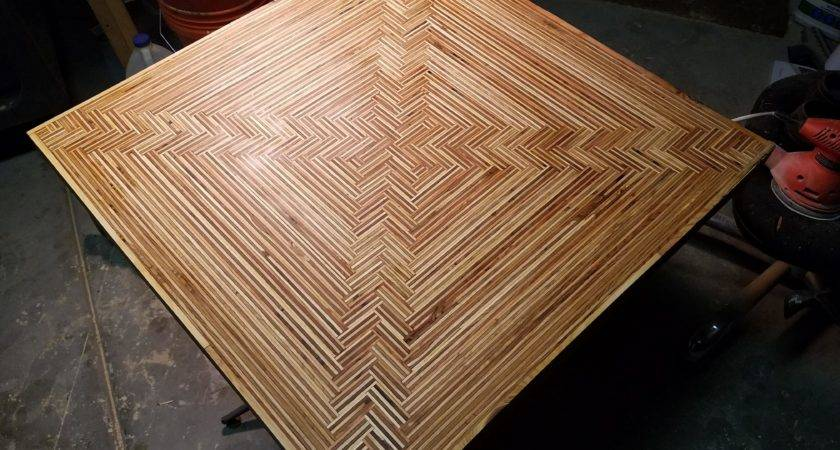 Plywood Parquet Tabletop Woodworking