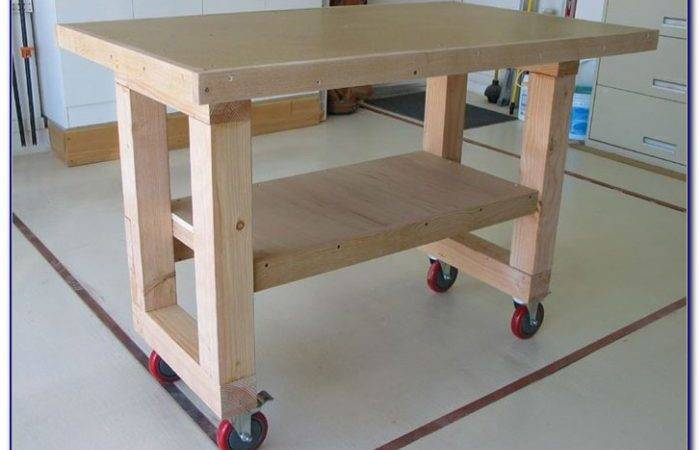 Portable Workbench Wheels Bench Home Decorating