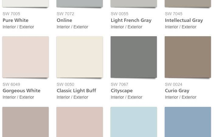 Pottery Barn Spring Summer Paint Color Palette