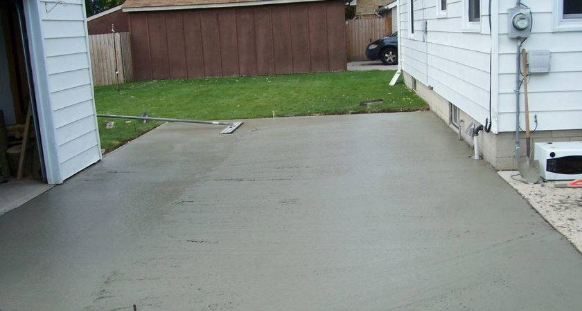 Pouring Concrete Patio Against House Modern Outdoor