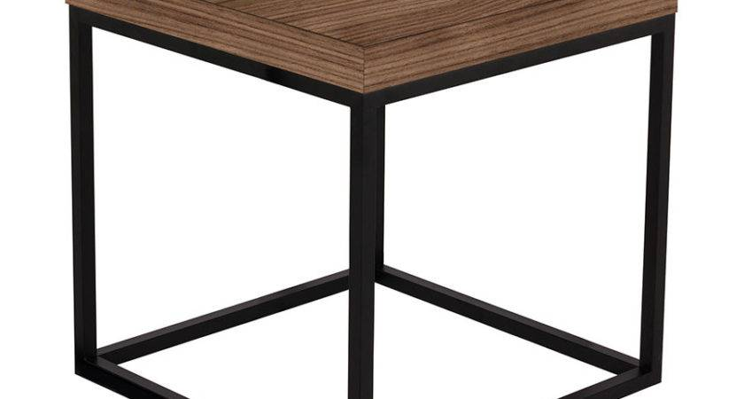 Prairie Walnut Black Modern End Table Temahome Eurway
