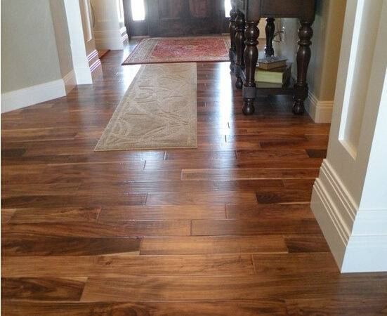 Prefinished Solid Blonde Asian Walnut Acacia Hardwood