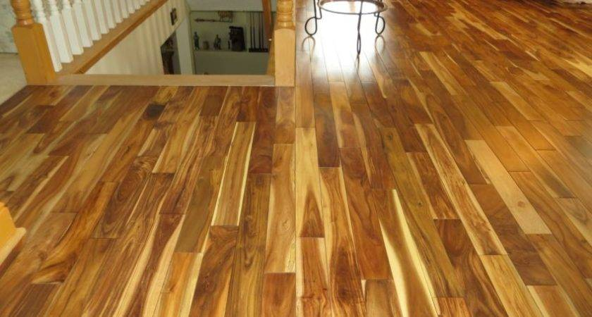 Prefinished Solid Blonde Asian Walnut Acacia Wood Hardwood
