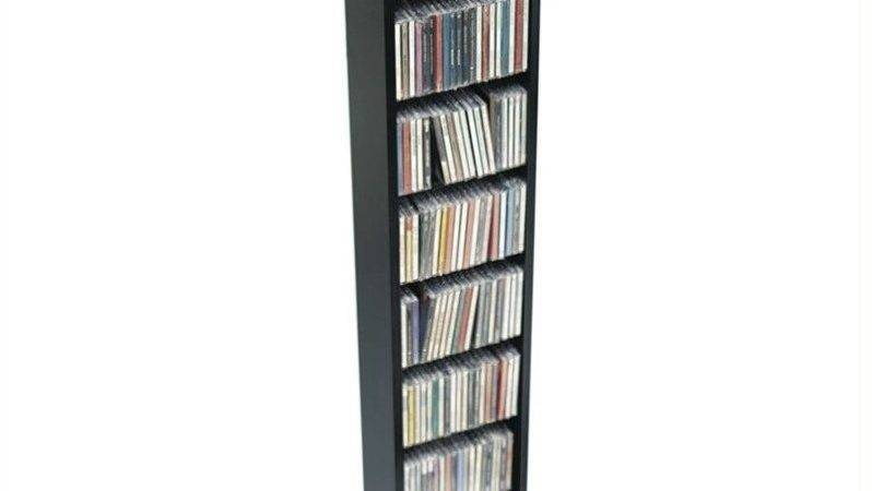 Prepac Slim Rack Black Dvd Media Storage Ebay