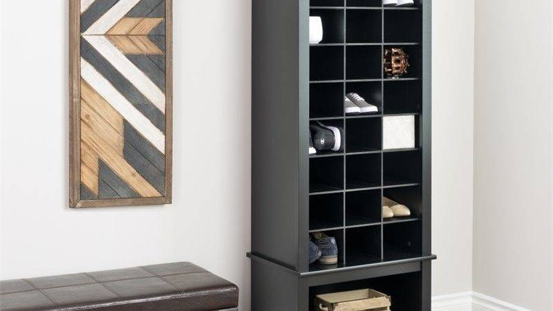 Prepac Tall Cubbie Cabinet Black Shoe Rack Ebay