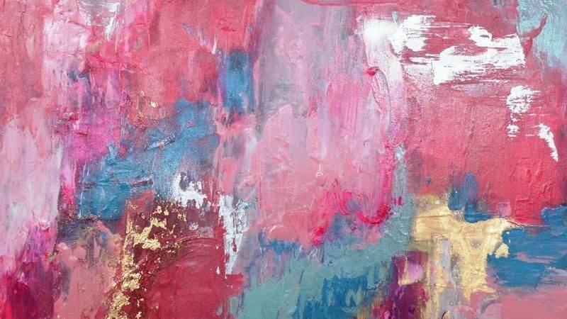 Pretty Pastels Abstract Painting Jessica Seroka