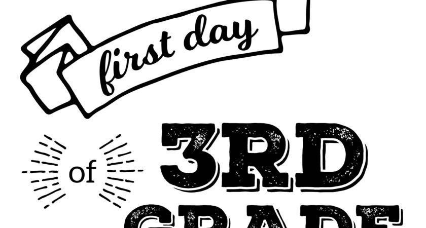 Printable First Day School Signs Paper Trail Design