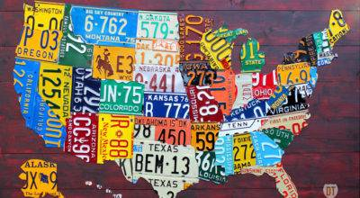 Purchase Usa License Plate Maps Design Turnpike
